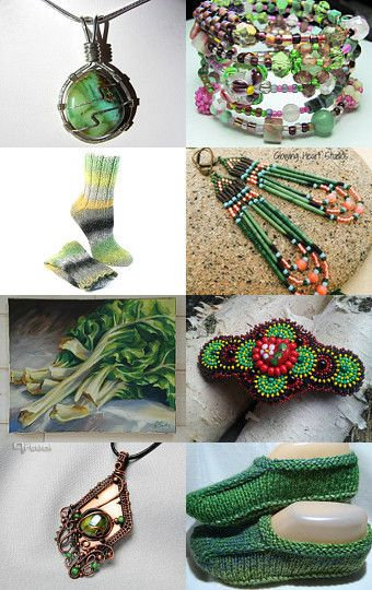 Gorgeous Greens by Janice on Etsy--Pinned with TreasuryPin.com