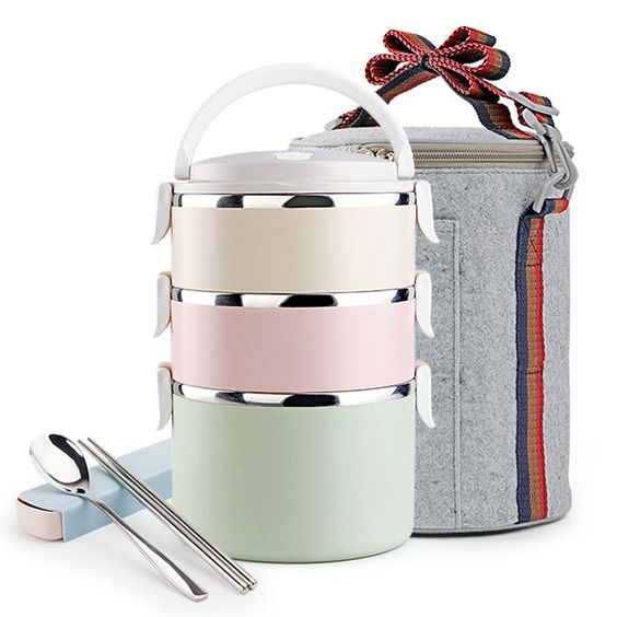 best price portable food fruit container storage with tableware bento box stainless steel diy. Black Bedroom Furniture Sets. Home Design Ideas