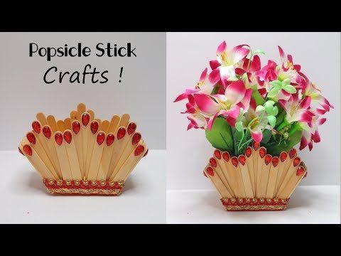 Ide Kreatif Vas Bunga Dari Stik Es Krim Kreasi Kerajinan Dari