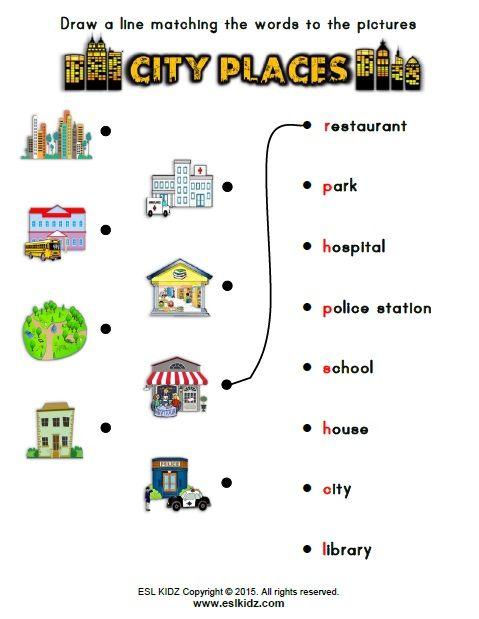 Https Www Teacherspayteachers Com Product City Places Classroom Center Bundle 3250107 Worksheets For Kids Places Worksheet English Worksheets For Kids Places of city worksheet