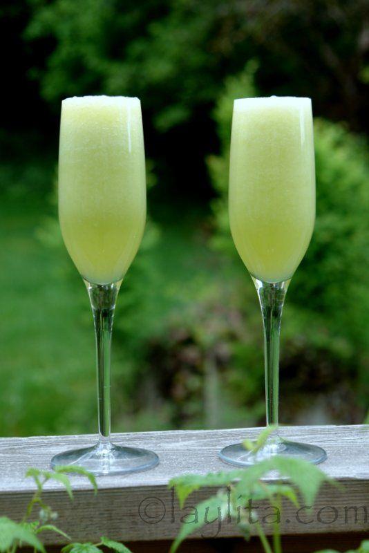 Le cocktail bellini de melon vert, dit melon miel