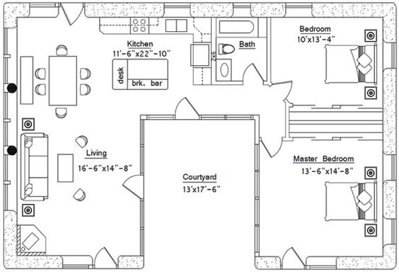 For lindsey i like u shaped homes with the court yard in for House designs with courtyard in the middle