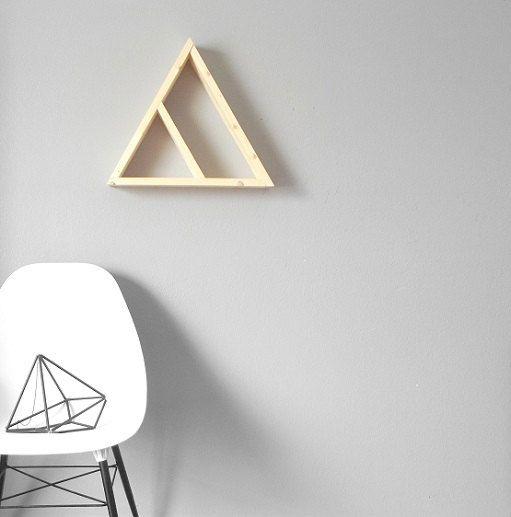 Large Geometric Shelf . Mountain Shelf . Handmade by GeometricHome