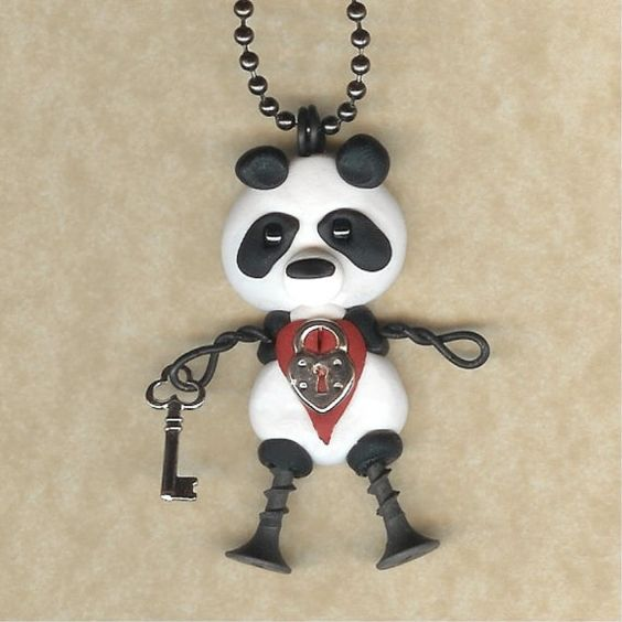 Valentines Day Panda With a Lock and Key Heart by Freeheart1