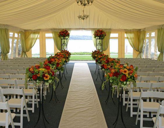 Outdoor Wedding Ceremony Decoration Ideas: Floral Decoration For Church Wedding