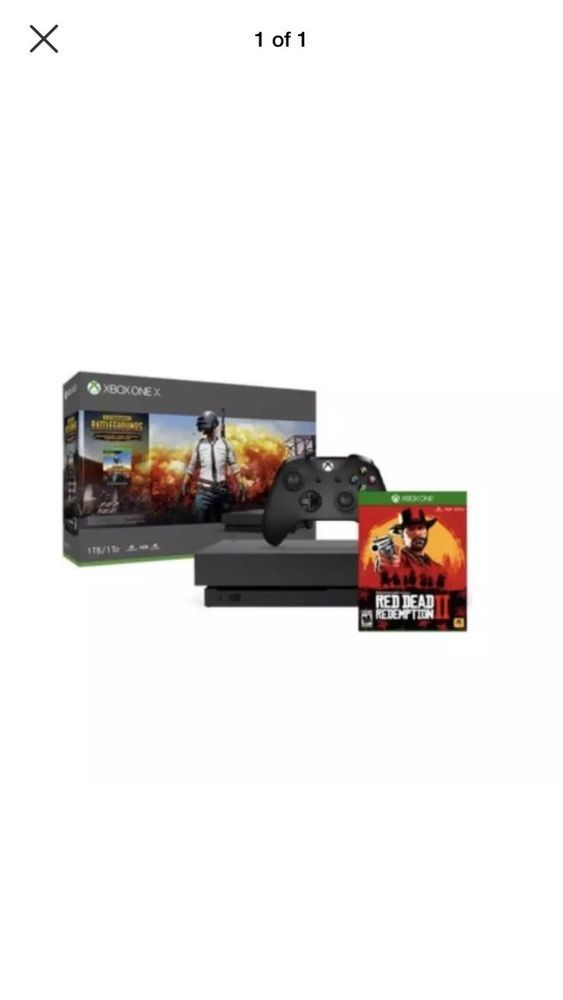 Xbox One X 1tb Pubg Console Bundle With Red Dead Redemption 2 Brand New Xboxone Xbox Game Xbox One Red Dead Redemption Xbox