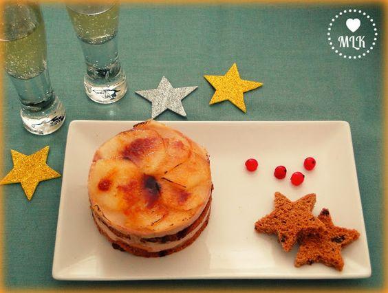 Milhojas de foie con manzana y pain d'epices
