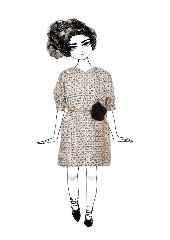 Iris Dress from the Pale Cloud Autumn Winter 2015 Collection