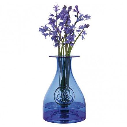 Flower Bottle Blue - Flower Bottles - Living Glass Collections - Collections   Dartington Crystal - Vase - Glass