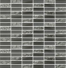 Sparkle Smoke Glass Mosaic Subway Tiles