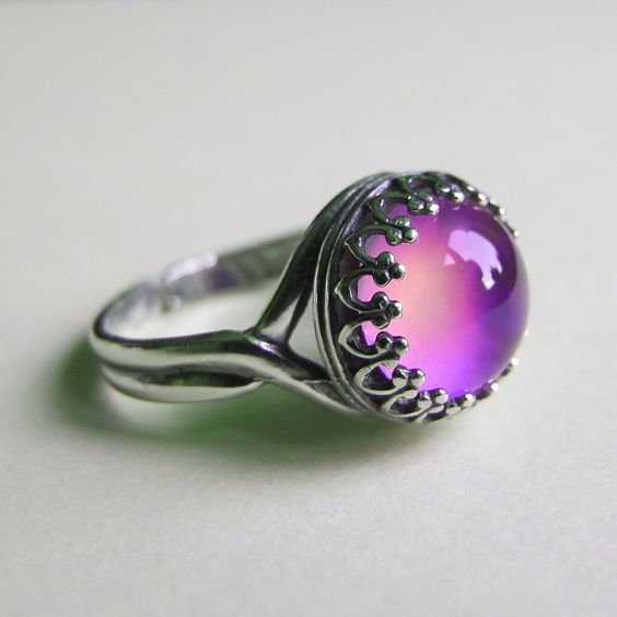 Mood Rings Silver And Sterling Silver On Pinterest