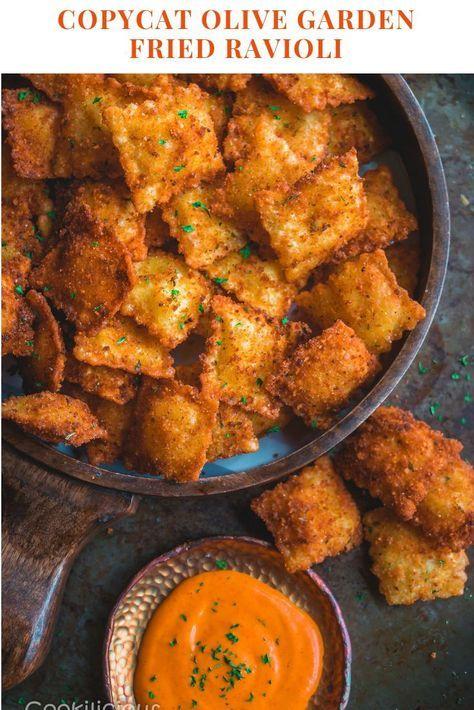 Copycat Olive Garden Vegan Fried Ravioli