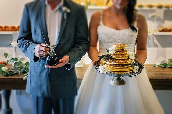Brunch Morning Wedding ~ Sunday Kind of Love. Pancake LOVE!!!