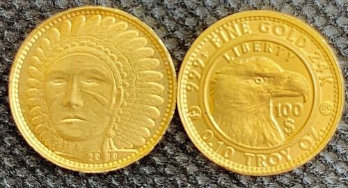 Bullion 2000 1 10 Oz Gold Indian 24k Liberty Eagle 999 100 Coin Moonlight Mint Rare Bullion Coins Silver Bullion Coins