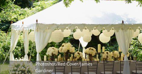 Hochzeitsdeko für das Fest im Freien