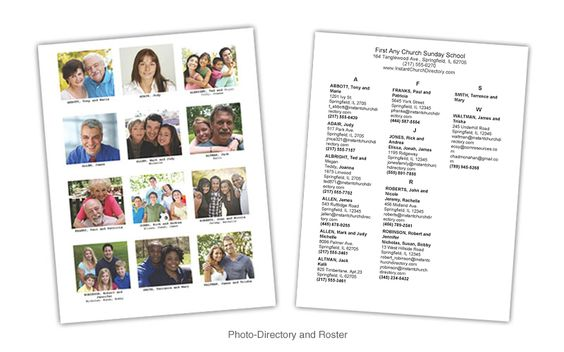 pictorial directory template word