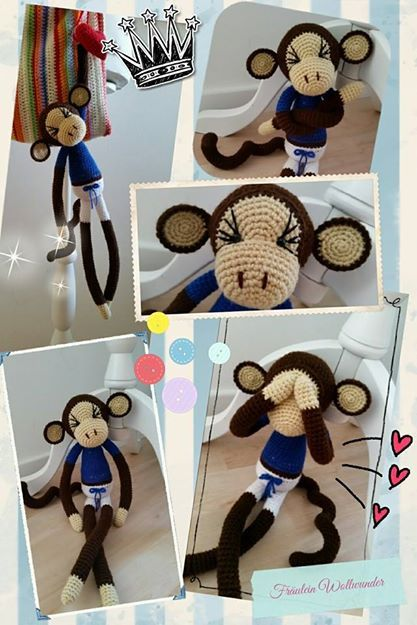 Affe * chimpanse * fussball Fan * monkey * Boy * gehäkelt * crochet  https://www.facebook.com/fraeuleinwollwunder