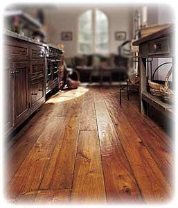 Love the rustic look of hand-scraped hardwood flooring  - hickory wood is my favorite!