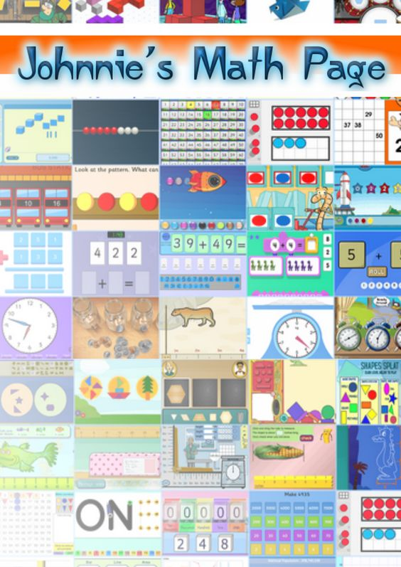 Johnnie's Math Page Over 1,000 math activities, games, resources organized for kids and their teachers