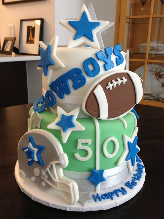 Colts Football Birthday Cake