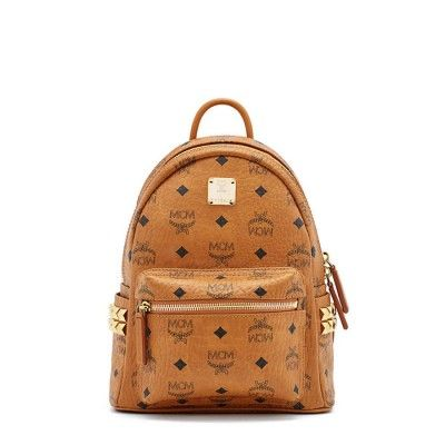MCM Mini Stark Side Odeon Studded Backpack In Brown