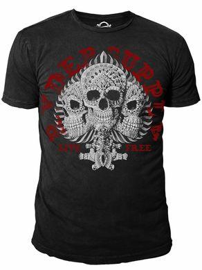 Ryder Supply Clothing 3 Skulls T-shirt (Black)