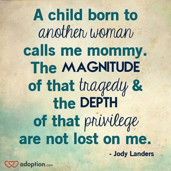 This is the beauty of foster care and adoption. What a privilege....