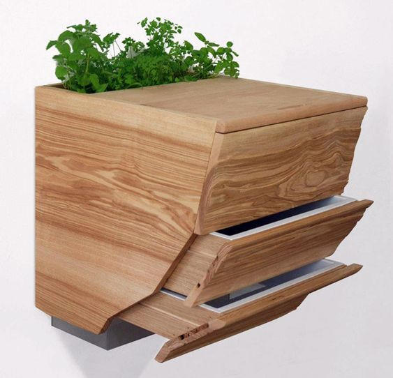 Planter, cutting board, composter.