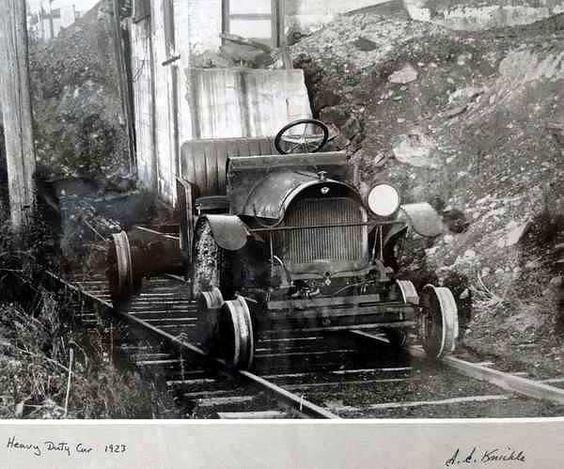 ☆MG☆Canadian Railway Maintenance Equipment --- Gas driven inspection car (1923)