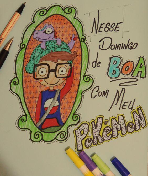 de boa treinando meu pokemon... #draw #pokemon #desenho #ilustração #totodile
