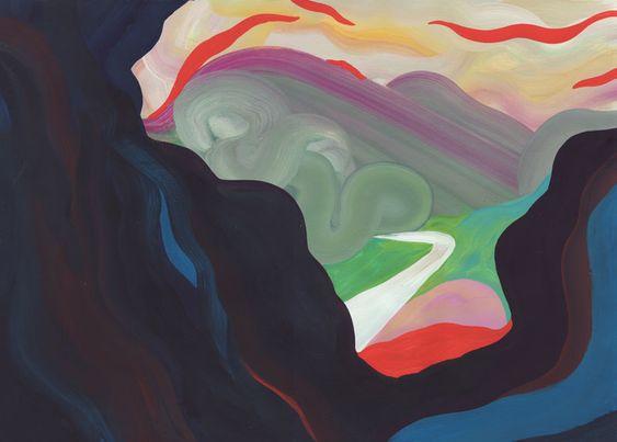 Forent Groc - Colline Le Collet-Redon, 2014. Gouache sur papier. 29 × 42 cm