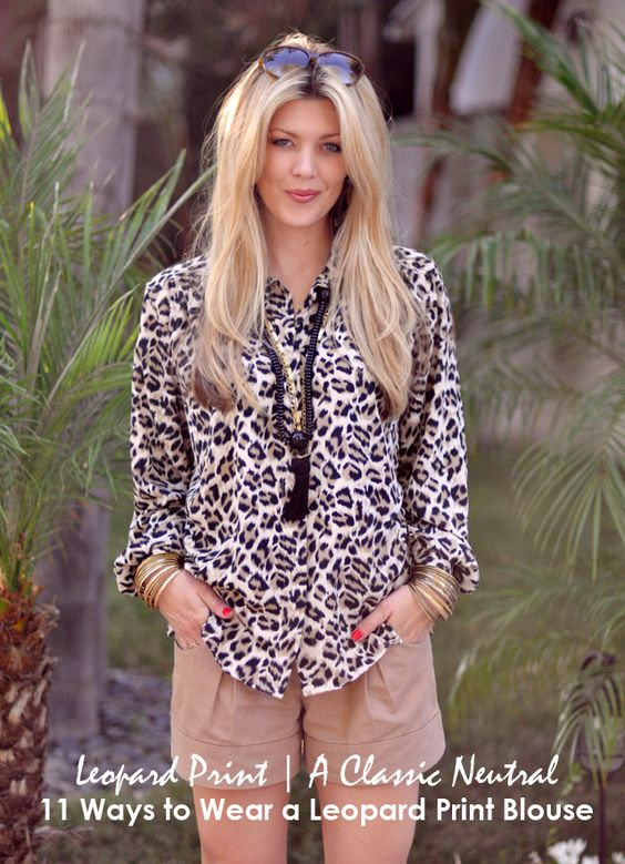 Leopard print is a classic neutral and a leopard blouse is an easy way to incorporate it into your everyday wardrobe.
