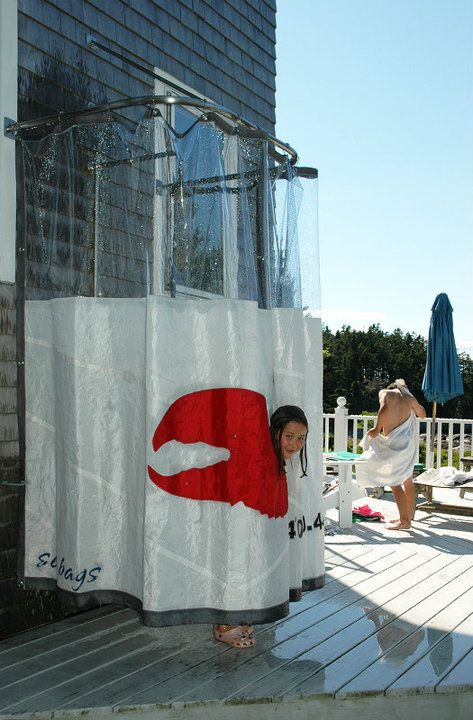 Sea Bags Outdoor Shower Curtain.. so cool! | Porches | Pinterest ...
