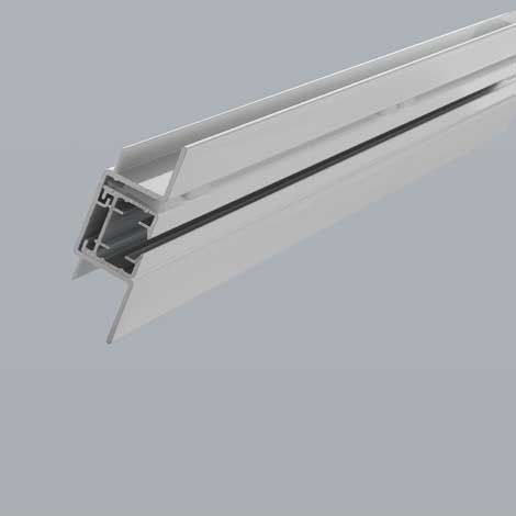 The Silent Gliss System 5400  has a precision designed recess profile track to house the curtain track within the ceiling. The two tracks fit together to give a perfectly flush finish.