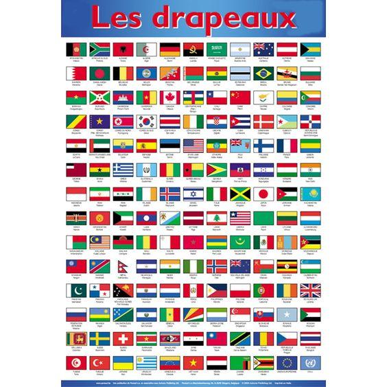 Drapeaux et noms a decouper et coller sur des pics theme - Drapeau rouge avec drapeau anglais ...