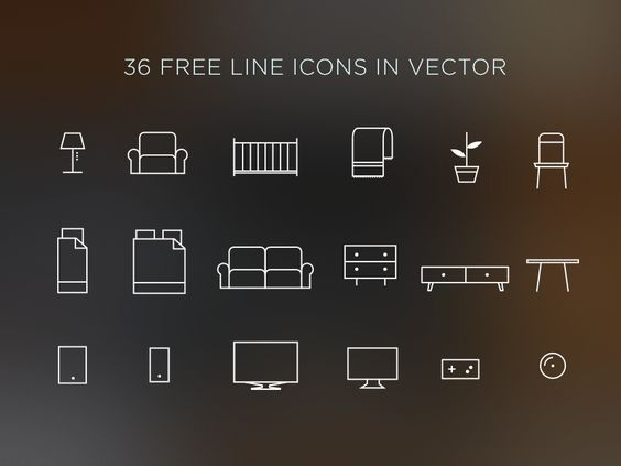 Free PSD Goodies and Mockups for Designers: 36 FREE HOME ICONS IN VECTOR (.AI,.EPS,.PDF)