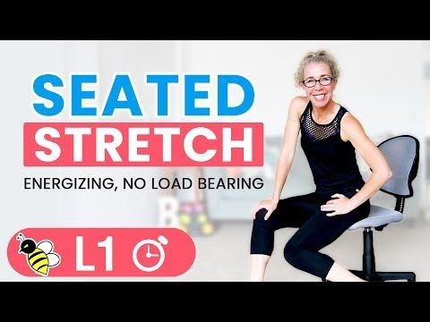 Energizing Seated Stretch Warm Up Cool Down Or Desk Break Workout 5 Minute Friday Fix Youtube Workout For Beginners Friends Workout