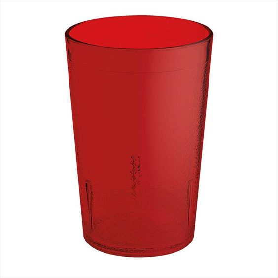 Plastic Reusable Textured Tumblers 8 oz 2.69 x 4 Red SAN/Case of 24