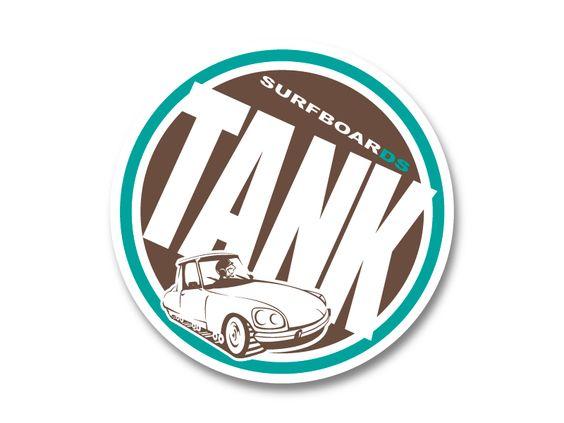 """Création de logo pour """"TANK SurfboarDS"""", créateur de planches de surf à Biarritz (64) en décembre 2007."""