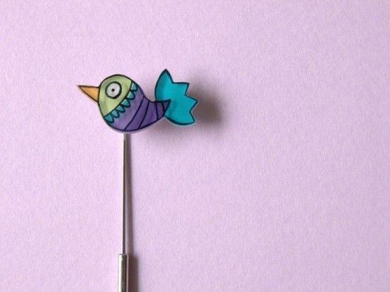 Exotic Bird pin