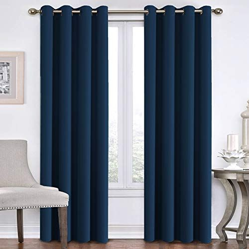 Flamingo P Blackout Curtains For Bedroom Navy Curtains Thermal