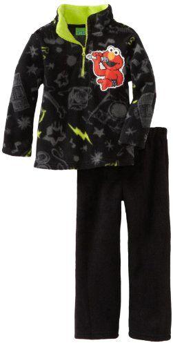Sesame Street Little Boys'  Fleece Sweatshirt and Pant Set Elmo #yankeetoybox #sesamestreet #elmo