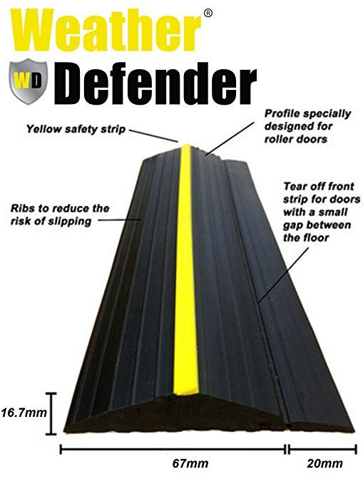 Weather Defender Heavy Duty 5 0m Garage Door Floor Seal Strip With Adhesive Garage Doors Garage Door Threshold Garage Decor