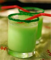 They called this grinch punch and served it at Christmas, but I would say it's a great one for St. Patrick's Day!