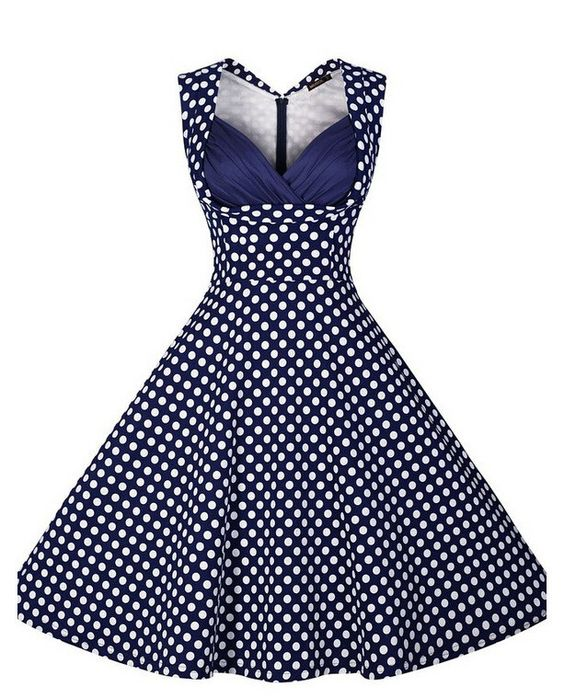 Blue Polka Dot Vintage Dress  Love the Polka dots and I love