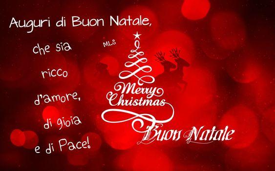 Auguri di Buon Natale, che sia ricco d'amore, di gioia e di Pace! Buon Natale...FRASI DI NATALE - i Miei Pensieri: