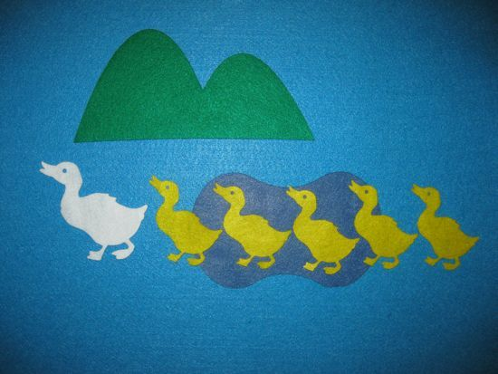 5 little ducks felt board story
