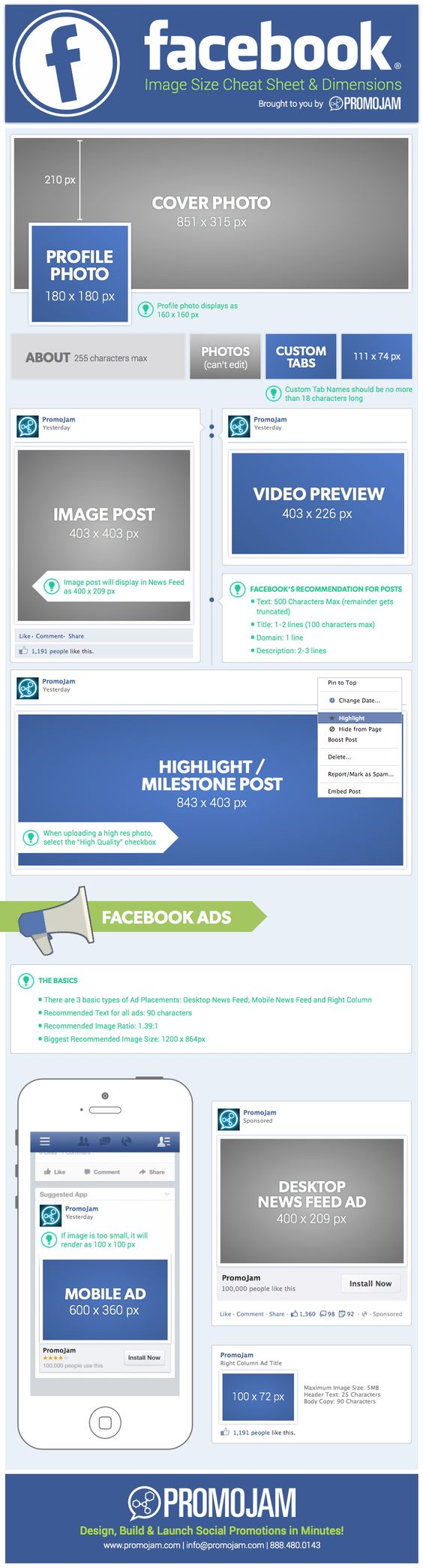 #Facebook Image Sizes Cheat Sheet - #infographic