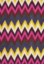Fabric | Adras Ikat Print in Jewel | Schumacher