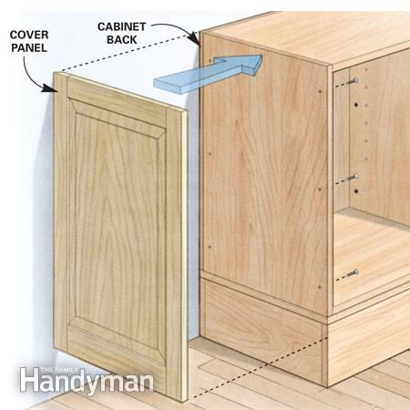 The family handyman custom cabinets and cabinets on pinterest for Custom built cabinets